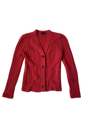 Buy: Red Wool Cardigan Size 10