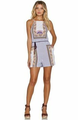 Rent: Dalmatia Print Strappy Playsuit Romper Size 6-8