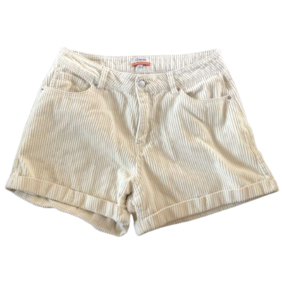 Buy: Cream Cord Shorts Size 12