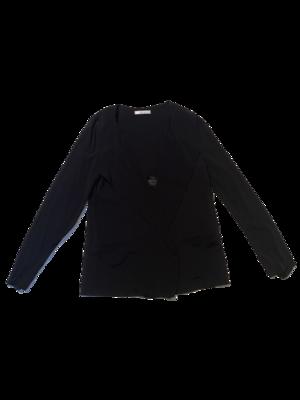 Buy: Black Buttonless Blazer Size 10