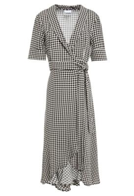 Buy: Asymmetric Printed Wrap Dress Size 12