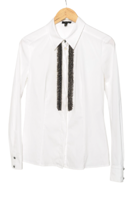 Buy: White Shirt with Silver Beading Size 8