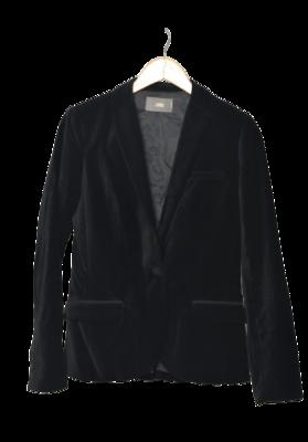 Buy: Black Velvet Embellished Blazer Size 10