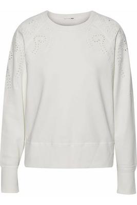 Buy: White Embroidered Sweatshirt Size 10