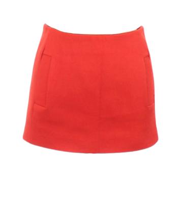 Buy: Red woolen mini skirt Size 10
