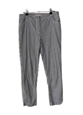 Buy: 90s black and white striped cropped pants Size 8