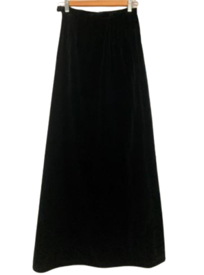 Buy: Black velvet slim cut maxi Size 6-8