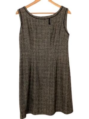 Buy: 60s grey tweed pinafore shift dress Size 8-10