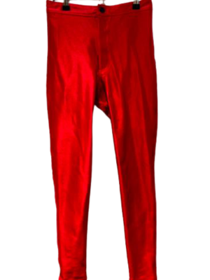 Buy: Shiny red disco pants Size 26-28