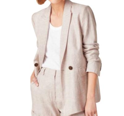 Buy: Checked Linen Blazer Size 8 BNWT