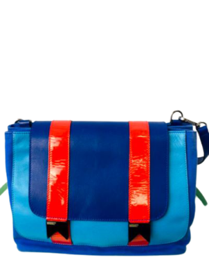 Buy: Bucket Leather And Canvas Shoulder Bag