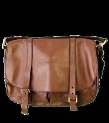 Buy: Brown Leather Messenger Bag