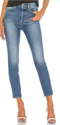 Buy: Ultra High-Rise Ankle Crop Jeans Size 28
