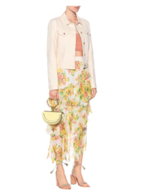 Buy: Golden tiered floral skirt Size 8