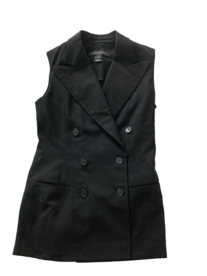 Buy: Black Double Breasted Vest