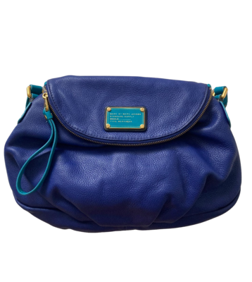 Buy: Blue Leather Messenger Bag