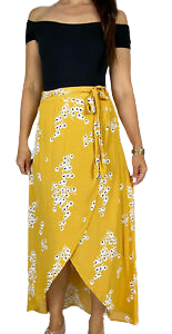 Buy: Floral wrap look skirt Size 6