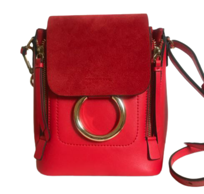 Buy: BROOKE Leather Mini Backpack Handbag Red