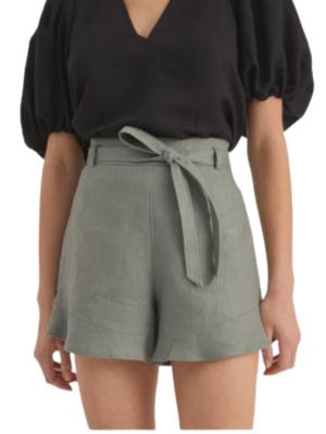 Rent: Belt Detail Linen Short BNWT Size 8
