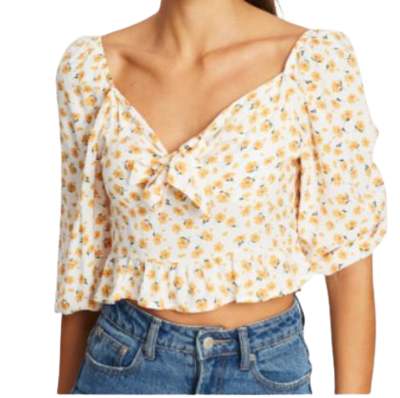 Buy: Tie Front Sleeve Blouse Size 6