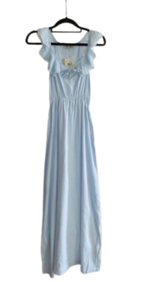 Buy: Peace Angel pale blue cotton maxi with ruffles BNWT Size 8