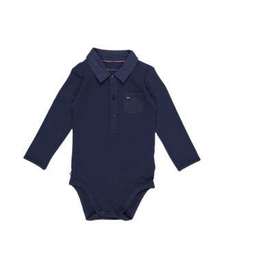 Buy: Poplin Collar Long Sleeve Bodysuit - Babies Size 3-6 months