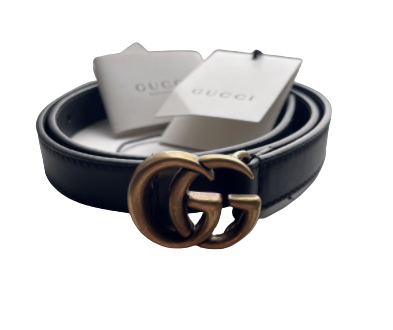 Buy: Leather belt with Double G buckle Size S-XS
