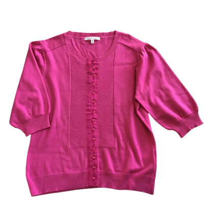 Buy: Pink Cotton Short Sleeves Knit Top Size 10