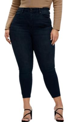 Buy: Good Waist Crop Raw Hem Jeans Size 27