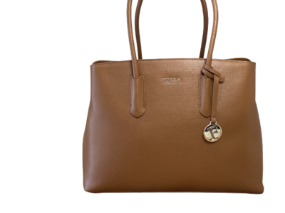 Buy: Tote in Tan Brown Leather