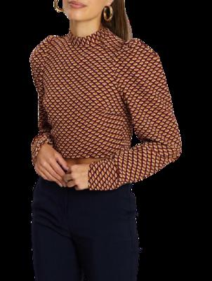 Buy: Geometric Tie Back Top size 6