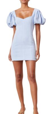 Rent: Anika Mini Dress-Sky Blue Size 10