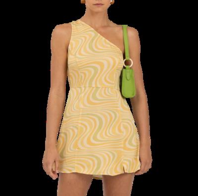 Rent: Montana One Shoulder Mini Dress Size 8