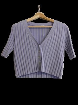 Buy: Paloma Short Sleeve Cardigan Lilac Size 8