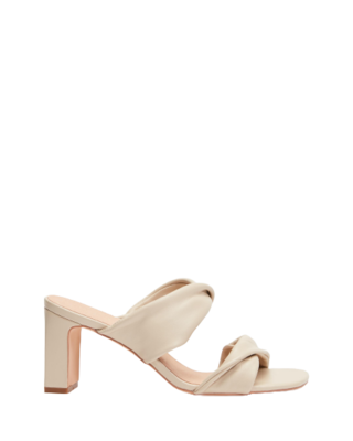 Rent: Twisted Double Strap Leather Heels Size 11