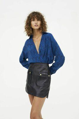 Buy: Manning Cartell Leather Skirt