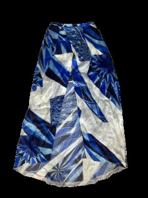 Buy: Blue Geometric Print Skirt