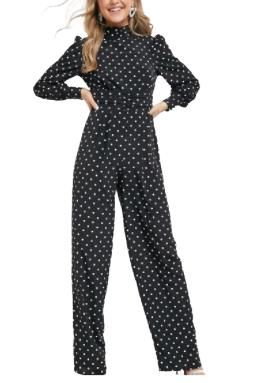 Buy: Design High Neck Ruched Waist Tea Jumpsuit Size 12