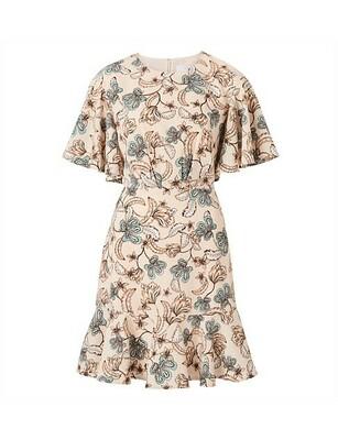 Buy: Paisley Print Soft Ruffle Mini Dress Size 6