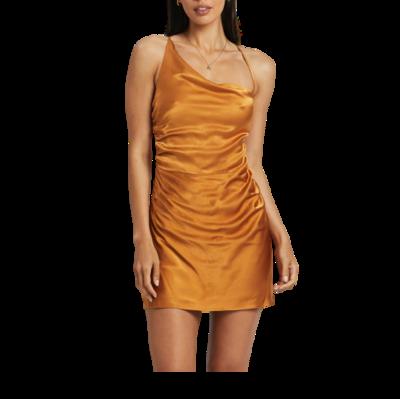 Rent: Alma Asymmetrical Bias Cowl Mini Dress Size 10