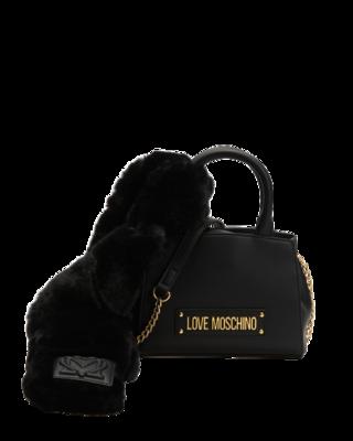Rent: Faux Fur Scarf Mini Shoulder Bag